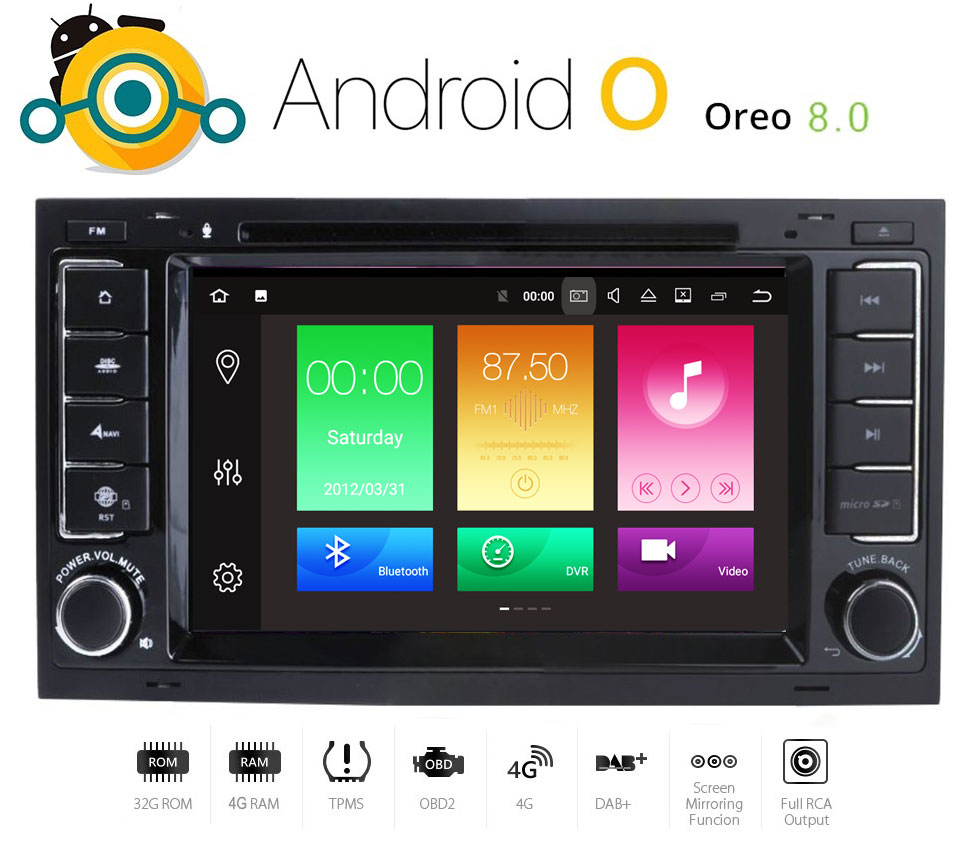 android 8 autoradio per touareg vw t5 multivan gps dvd mp3. Black Bedroom Furniture Sets. Home Design Ideas