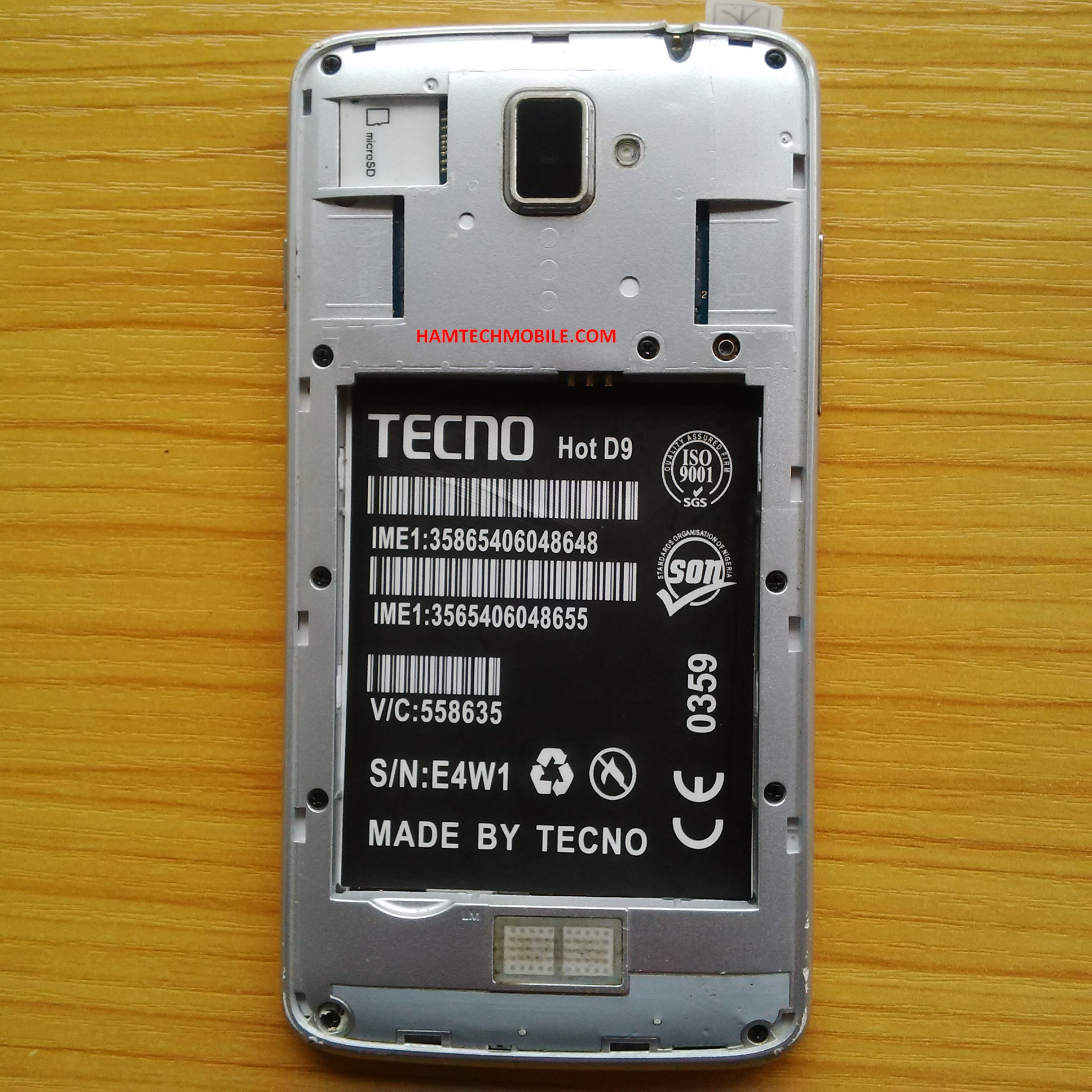 Tecno Hot D9 { Marvell } Stock Rom Firmware Free Flash File