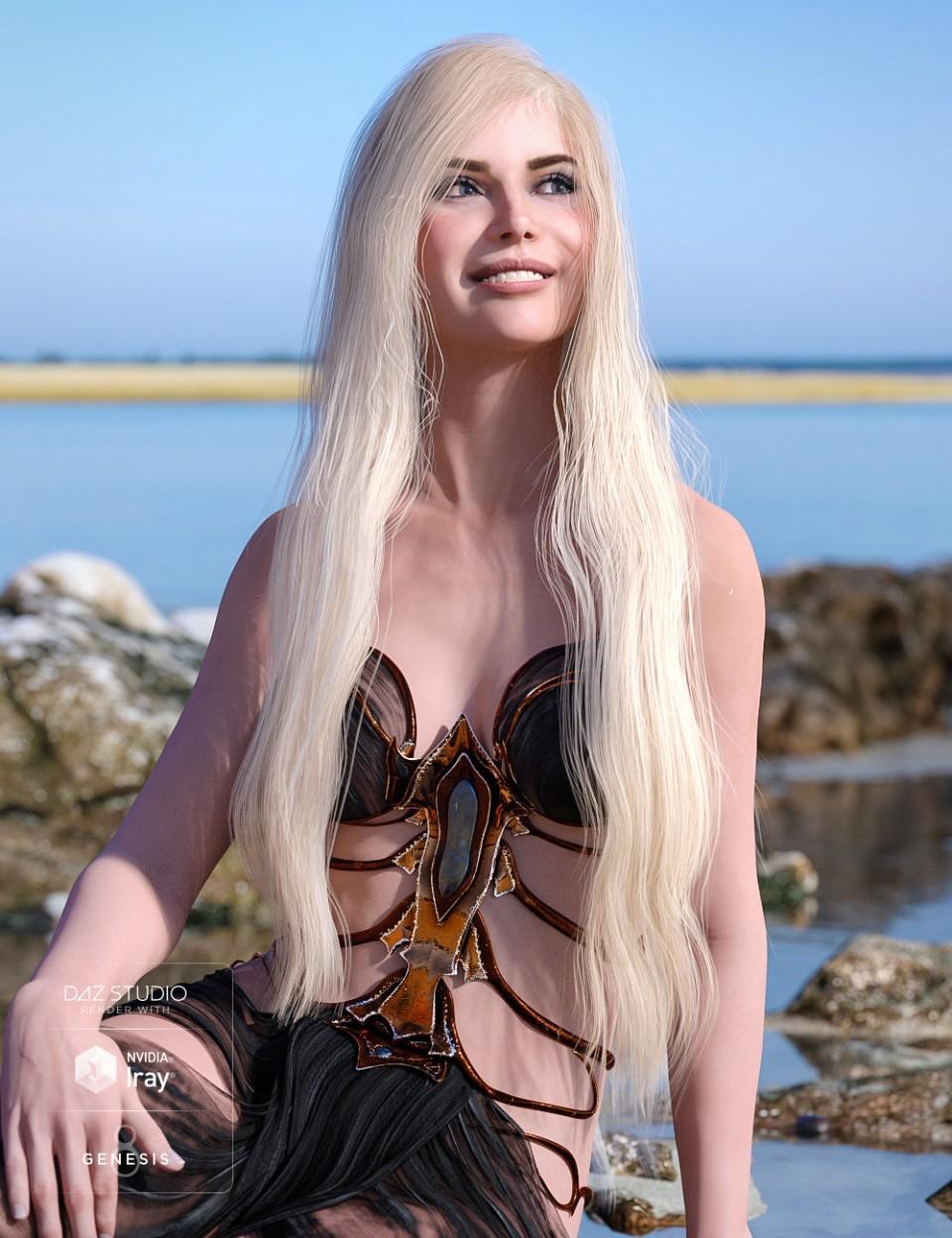Fanta Sea Hair for Genesis 8 Female(s)
