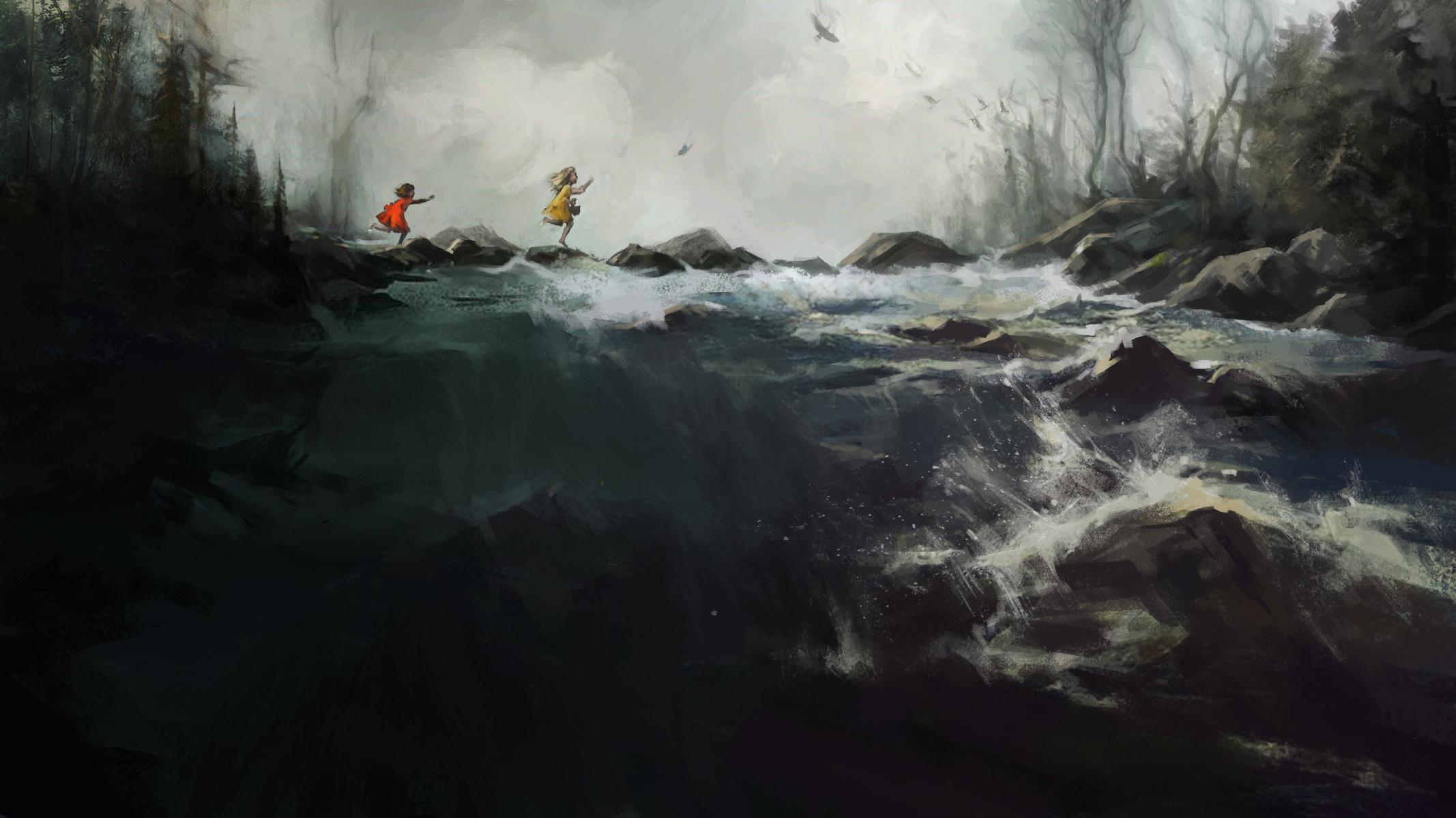 Las niñas persiguiendo al hada | Fuente: Riot Games