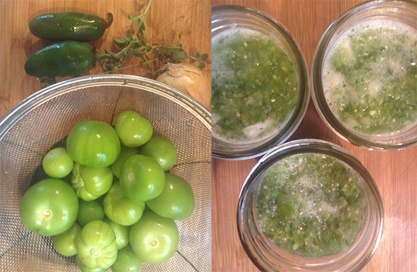 little green tomatoes, sort of!