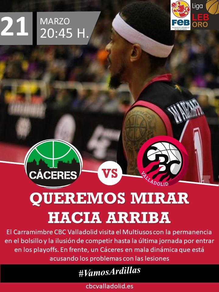 Jornada 28: CÁCERES PATRIMONIO DE LA HUMANIDAD 64-92 CARRAMIMBRE CBC VALLADOLID C_ceres
