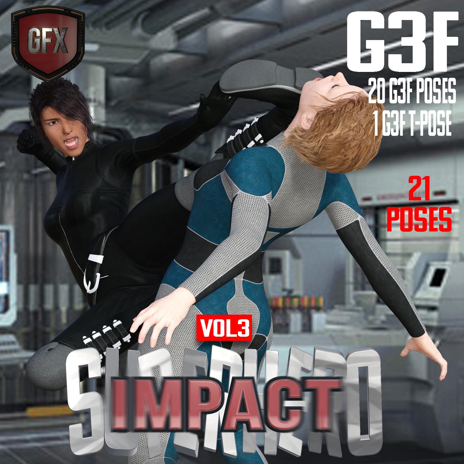 SuperHero Impact for G3F Volume 3