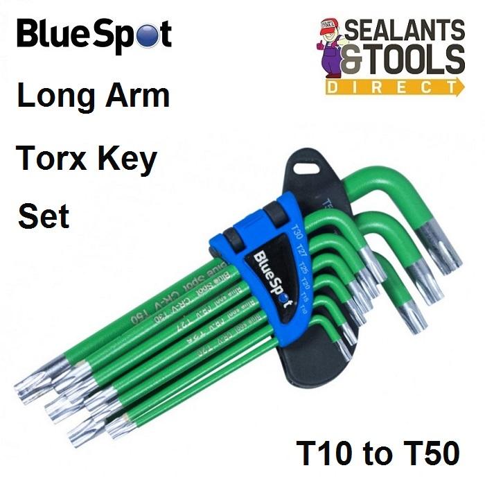 Blue Spot Long Arm Torx Key 9 Piece Set 15380