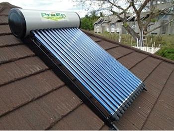 เครื่องทำน้ำอุ่นพลังงานแสงอาทิตย์ Solar hot water