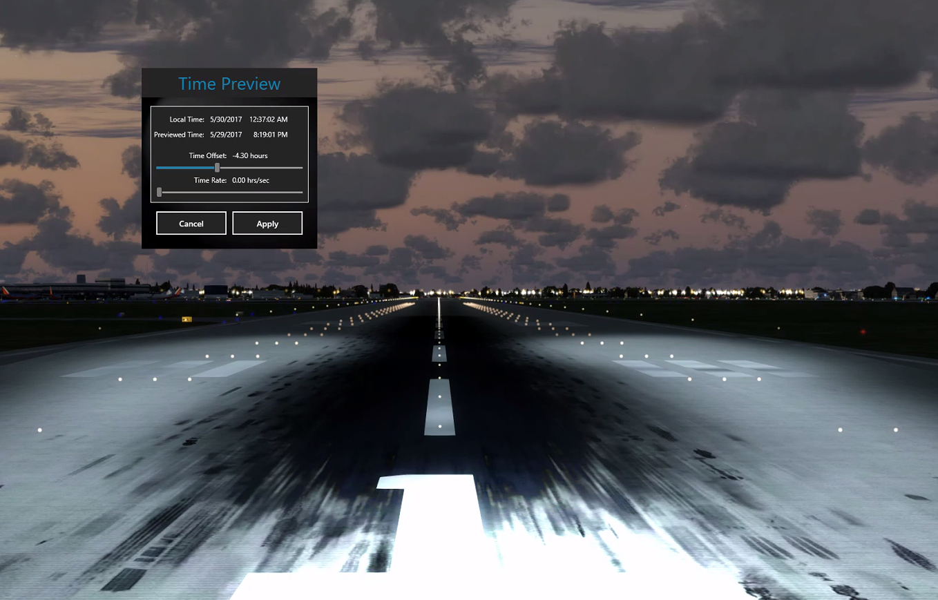 How To Change When Runway/Tarmac/Taxi Lights Turn On/Off
