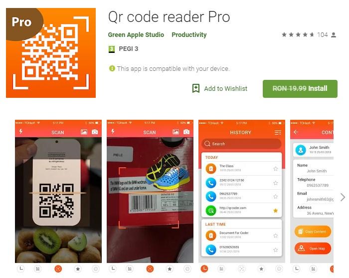 Qr code reader Pro Free   Games   Software Giveaways