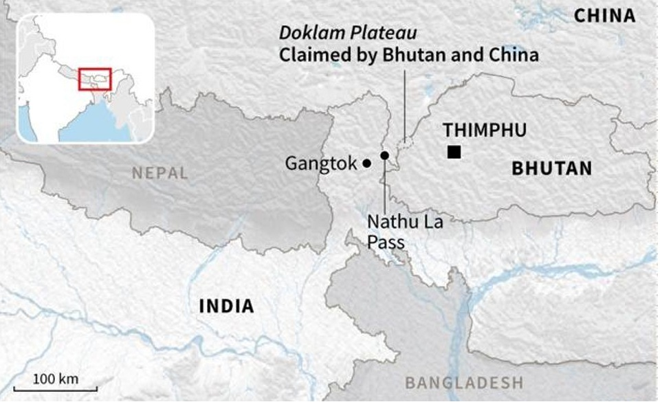 Doklam Plateau Map