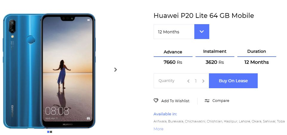 Huawei P20 lite on installments
