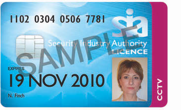 Example of the SIA CCTV Licence