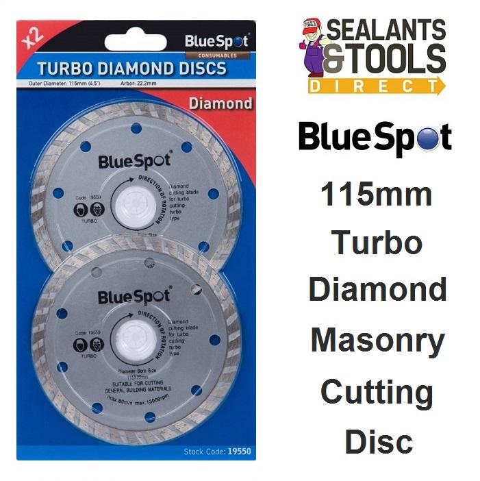 Blue Spot Diamond Turbo Masonry Cutting Disc 115mm 19550