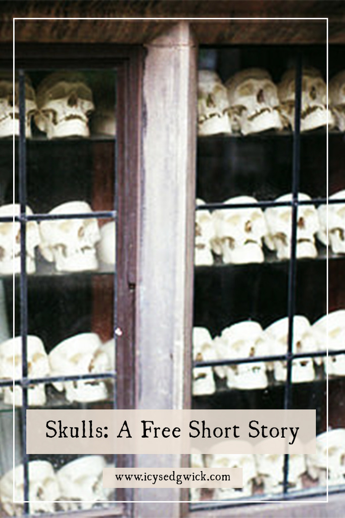 Skulls are creepy by their very nature, especially when you walk past a window full of them. Do their empty eye sockets watch you as you walk by?