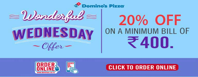 The guest care chat also delivers a pop-up note with the latest Dominos coupon codes when you open the Dominos website. You can get Dominos coupon codes for 15% off on minimum orders of Rs or order any 2 medium size pizzas at Rs only by using the Dominos coupons for the day.