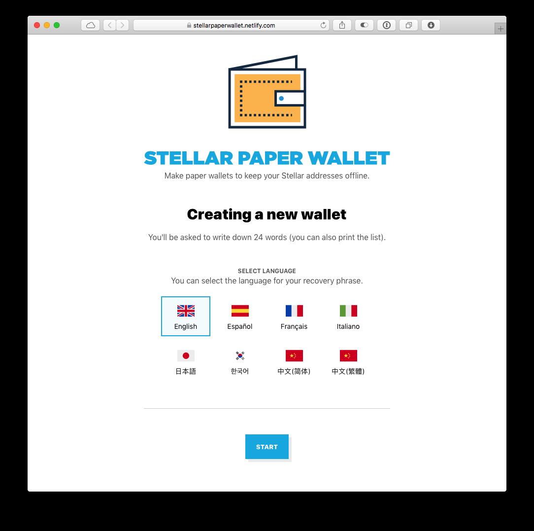 Stellar Paper Wallet: Make paper wallets to keep your Stellar