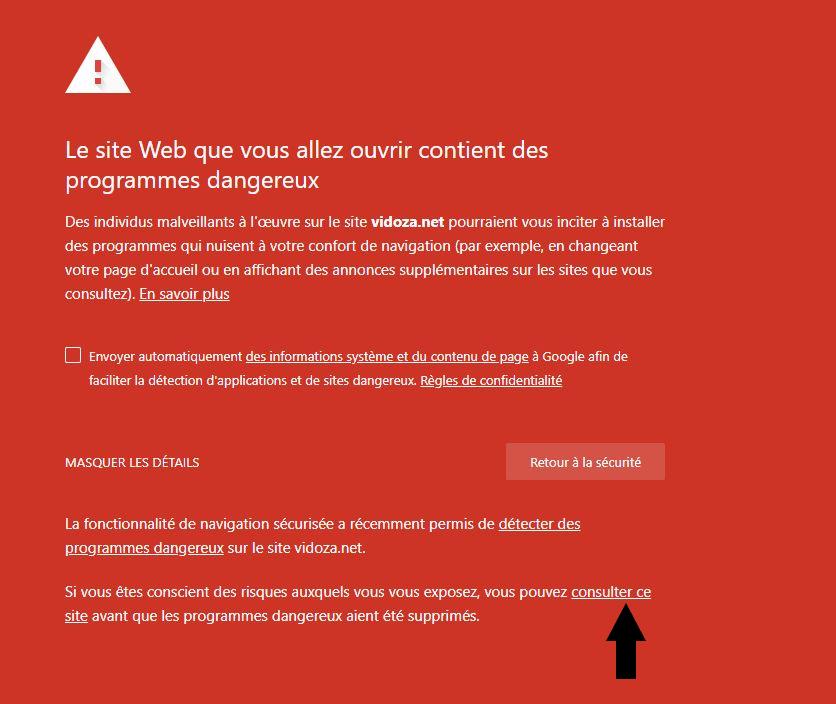 Avertissement Google Chrome ou Firefox ?!
