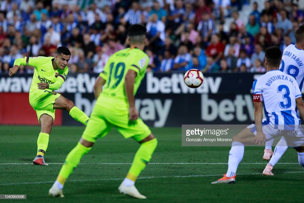 صور مباراة : ليغانيس - برشلونة 2-1 ( 26-09-2018 ) Kll