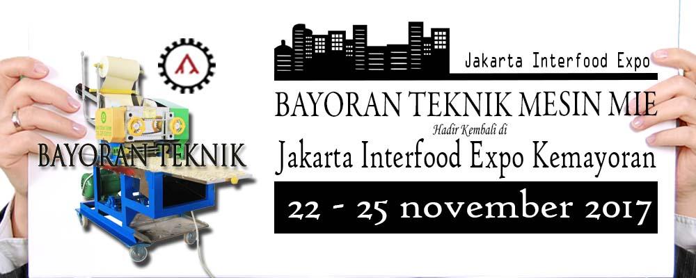 Bayoran Teknik Mesin Mie Tampil Di Jakarta Interfood Expo