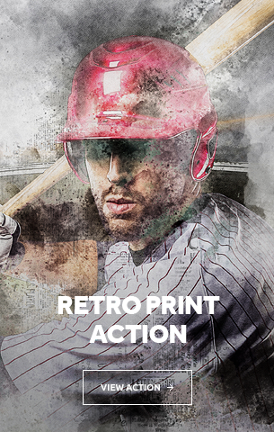 Retro Print Photoshop Action