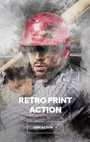 Retro Print Photoshop Action