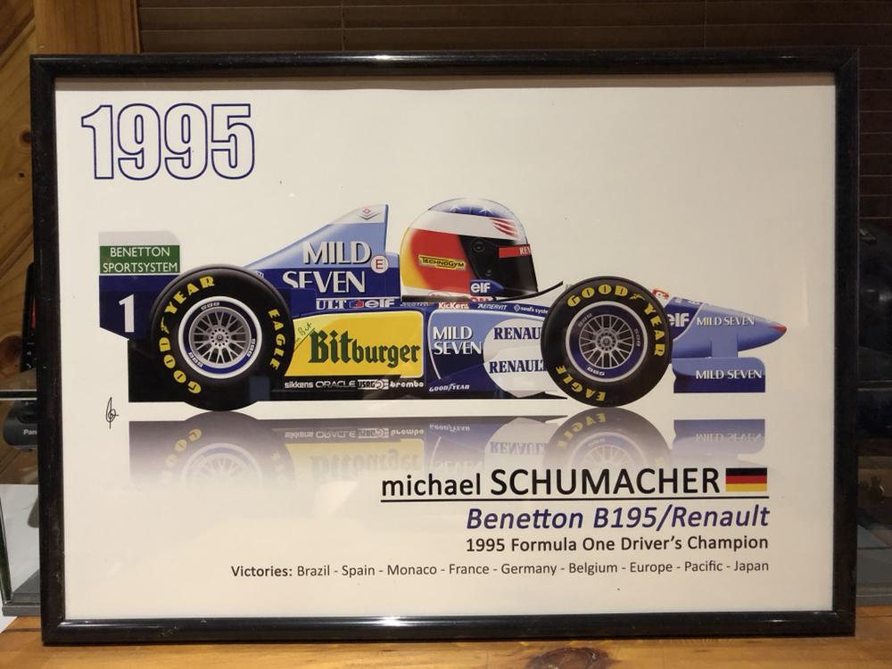1995 michael schumacher f1 race poster dvd benetton b195 renault