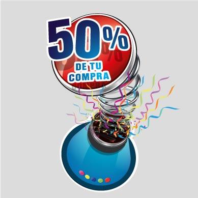 Gánate el 50% de tu compra