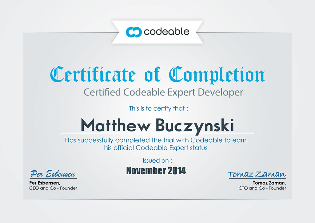 """Codeable Certified"""
