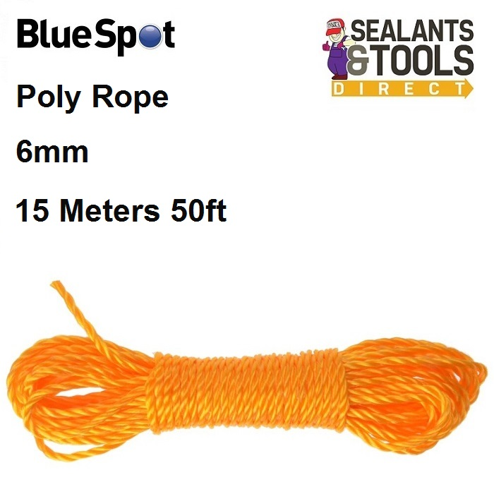 Blue Spot Tools Poly Rope 6mm Orange 80420