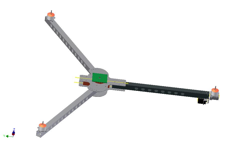Tricopter frame