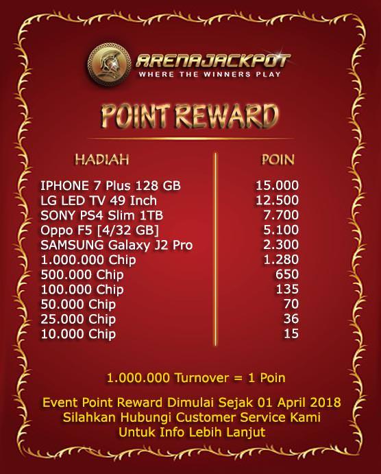Poin Reward Turnover Poker Online