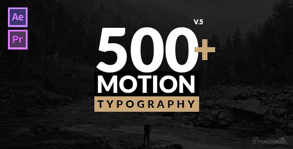 Videohive Motion Typography V5 20645019
