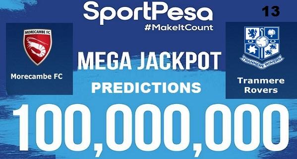 Sportpesatips - Morecambe vs Tranmere Predictions & H2H:: Sportpesa Mega Jackpot Predictions