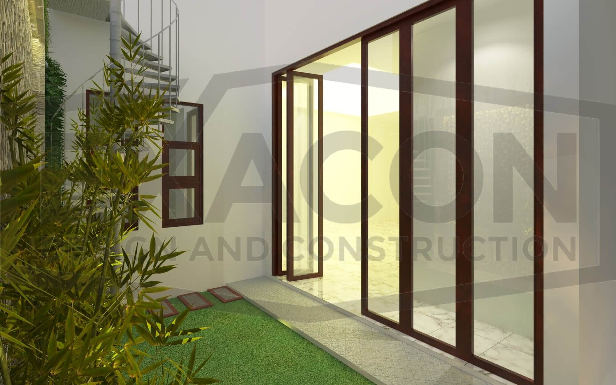 Proyek Desain Arsitektur Rumah 2 Lantai Minimalis Bpk Benny Cikarang Bekasi
