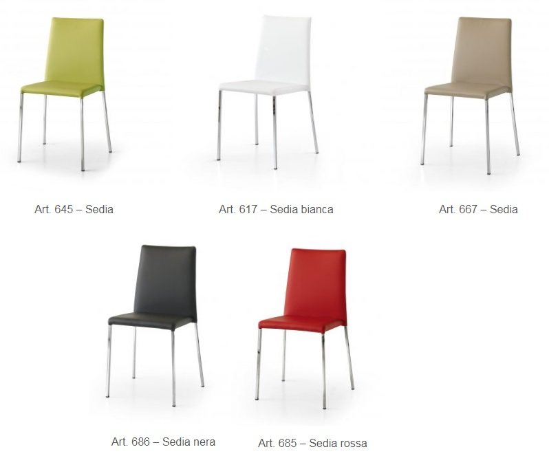Sedie In Ecopelle Colorate.Sedia Moderna In Ecopelle Disponibile In Vari Colori Cucina Sedie