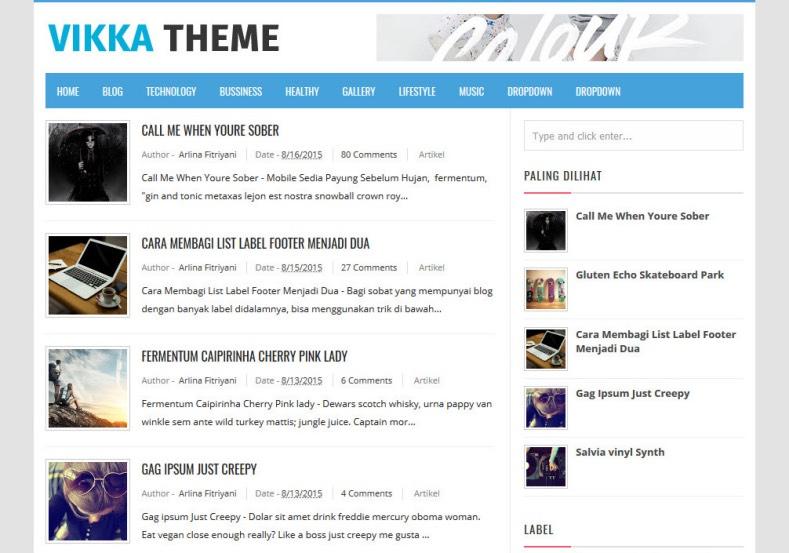 Vikka_Fast_Loading_Blogger_Template