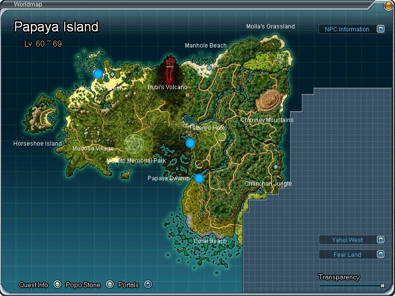 Papaya Island aberto