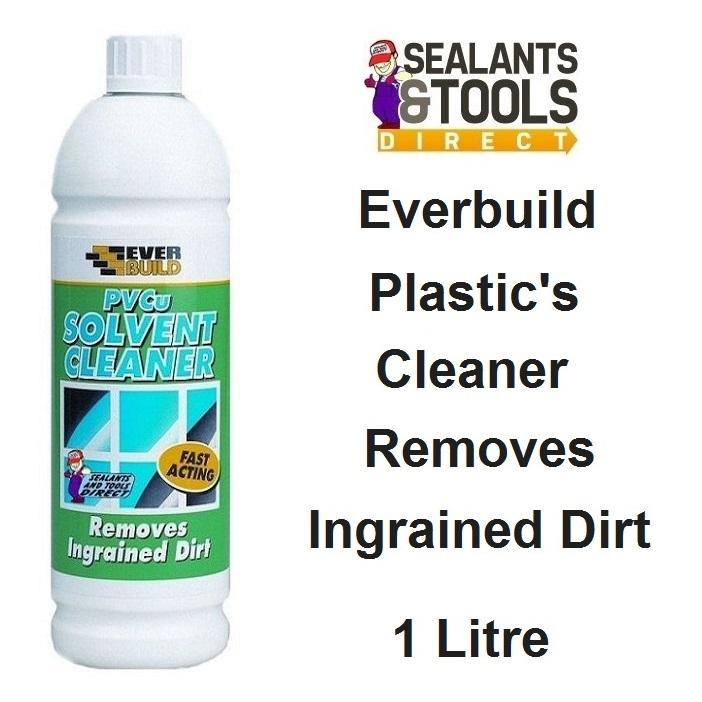 Everbuild PVCU PSolvent Cleaner 1 Litre PVCS1