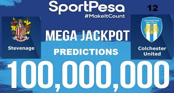 Sportpesatips - Stevenage vs Colchester Predictions & H2H:: Sportpesa Mega Jackpot Predictions