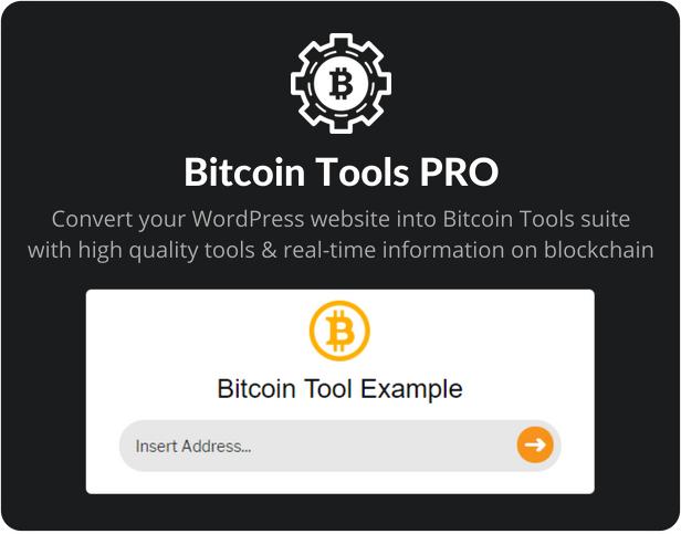 Bitcoin Tools PRO For WordPress - 1