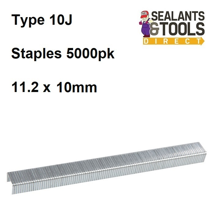 Fixman 10J Stapler Staples 11.2 x 10mm 5000pk 983163