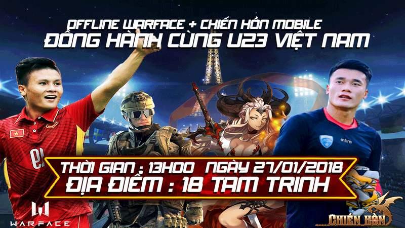 chiến hồn mobile, cộng đồng warface việt nam, game mobile, offline, u23 việt nam, warface, warface việt nam