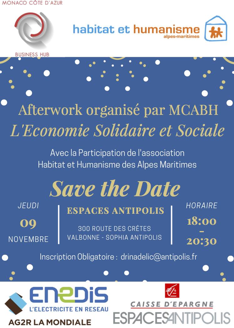 MONACO COTE D'AZUR BUSINESS HUB – Afterwork l'économie solidaire et sociale