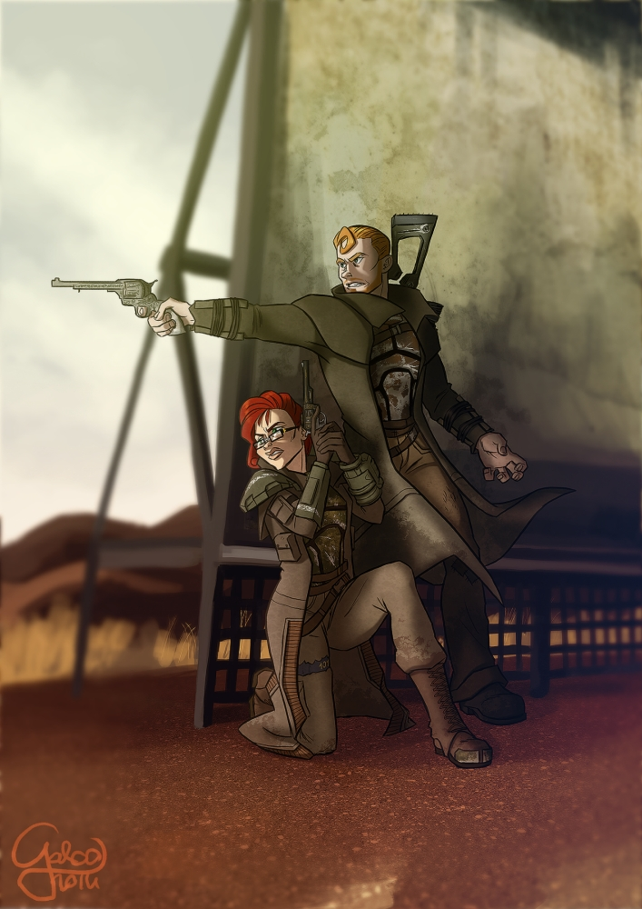 Lone Wanderer (FO3) vs Courier 6 (NV) Fallout_Fallout_art_2176301