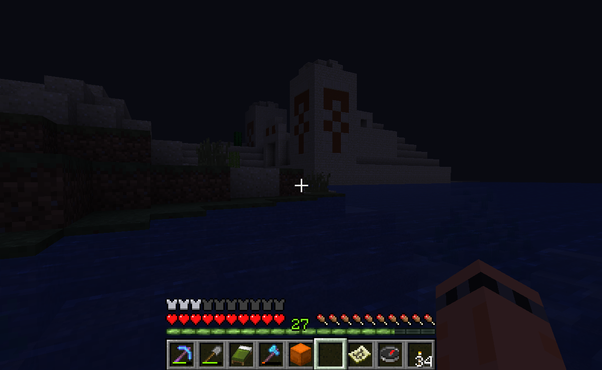 Temple in the dark