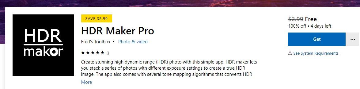 HDR Maker Pro – Gratis