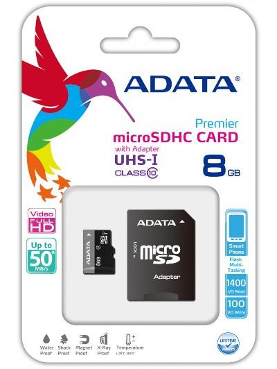 MICRO SD ADATA 8GB Class 10