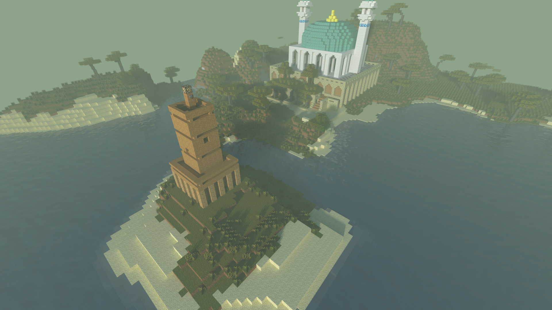 Lighthouse and Temple