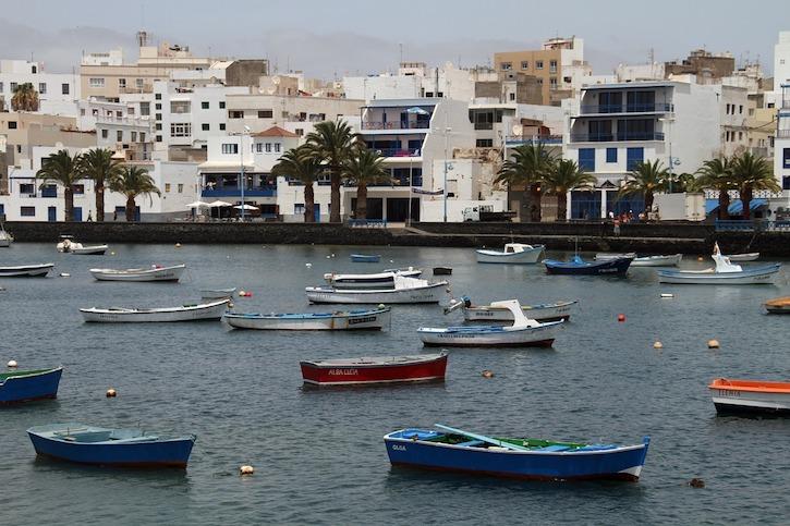 Lanzarote resort harbour view