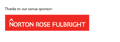 Venue sponsor Norton Rose Fulbright