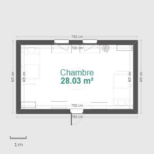 Vivre au pensionnat Chambre_simple_plan