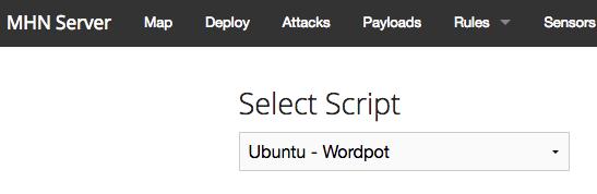 Select Honeynet Sensor Type image